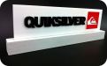 Quicksilver acrylic point of sale internal retail sign