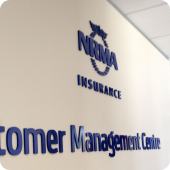 NRMA Insurance Customer Management Centre 3D Lettering corporate signage