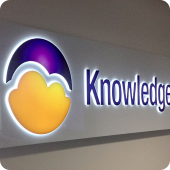 Knowledge Wise 3D precision cut lettering internal wall illuminated signage